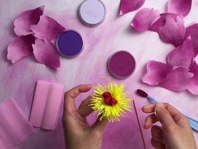 Colour and make a crepe paper peony with PanPastel