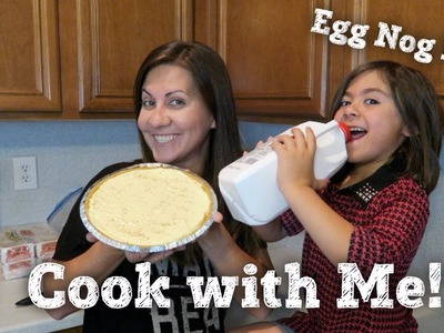 COOK WITH ME | EASY NO BAKE EGG NOG PIE RECIPE | PHILLIPS FamBam Vlogs