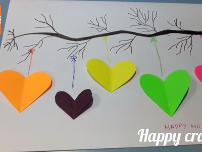 Cute and Easy Mother's Day card❤- how to make mother's day card?! DIY: #6