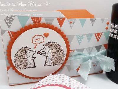 Cute file folder card using Love you lots stamp set