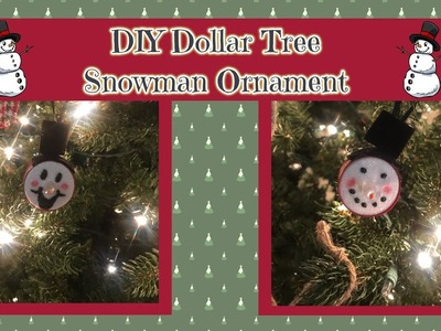 DIY Dollar Tree LED Snowman Ornament