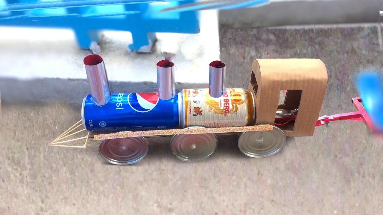 DIY Electric Train - How to make a Powered Train using dc