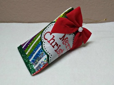 DIY~Make A Cute Candy Party Favor Christmas Ornament For Pennies!
