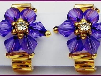 DIY | Perlen Ring | Schmuck basteln | Beaded ring with bicones and bugle beads | jewelery
