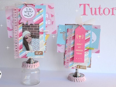 Diy Photo Display - Mini Album Tutorial - Photo Gift Ideas - Little Hot Tamale - LHT