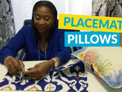 DIY Pillows From Placemats!