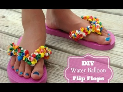 DIY Water Balloon Flip Flop Sandals! Super Fun and Easy! All from DOLLAR TREE!