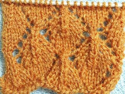 Easiest knitting woolen design for ladies cardigan net design#28