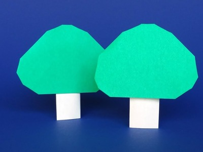 Easy Origami Tree that Stands - DIY Paper Tree