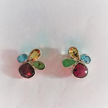 Emerald,Tourmaline,Quartz and Topaz/Birthstones/Valentines day gift