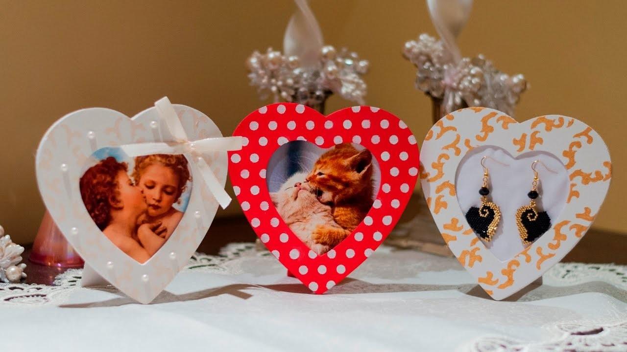 ENG SUBS - DIY Tutorial Cornici a forma di cuore in stile Shabby Chic per San Valentino