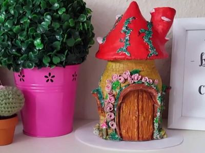 Fairy House Jar (Air dry Clay)