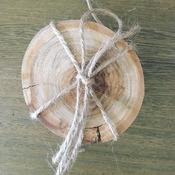 Handmade wooden coasters