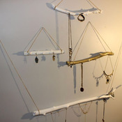 Handmade Wooden Jewelry Rack