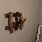Handmade Wooden Towel or Coat Rack
