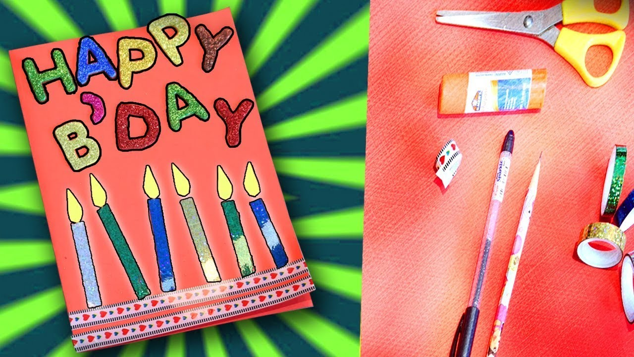 Happy Birthday Card For Kids Diy Card Easy Card Making Video