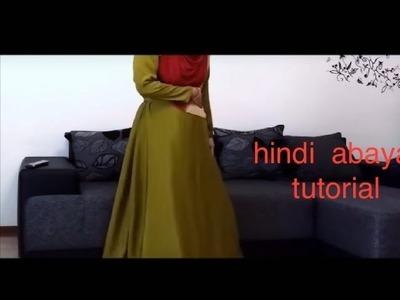 (hindi ) how to make abaya or long dress tutorial