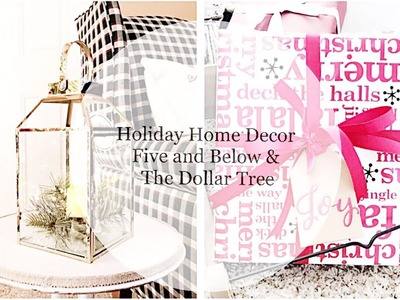 Holiday Home Decor    Five and Below & Dollar Tree    Christmas 2017