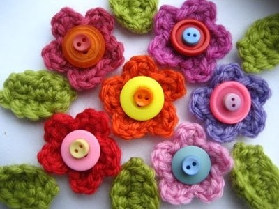 How to Crochet Button Flowers DIY for Beginners