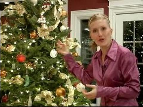 How to Decorate a Christmas Tree : How to Add Ribbon to Christmas Trees