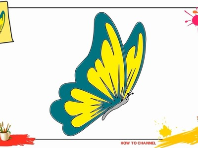 How to draw a butterfly 2 SIMPLE, EASY & SLOWLY step by step for kids