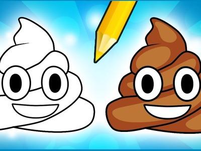 How to Draw Poop Emoji - Step by Step!