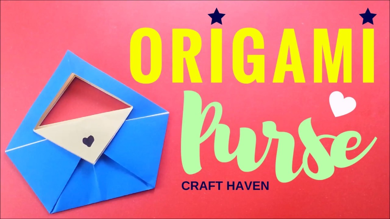 How To Fold Easy Origami Purse Paper Bagutch Tutorial