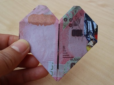 How to fold HEART with a speedy Money in 1 minute