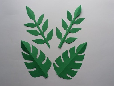 How To Make 2 Style Easy Origami leaf !!!