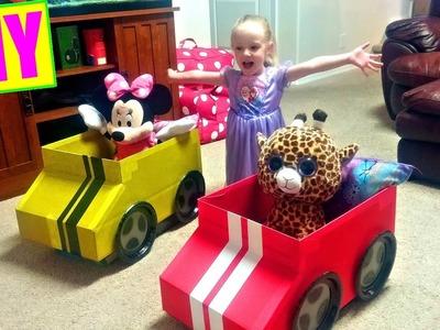 How to Make a Cardboard Box Car for Kids Easy Tutorial DIY
