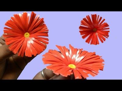 How to make a Colorful paper Flower | LifeStyle Designs Unique Idea