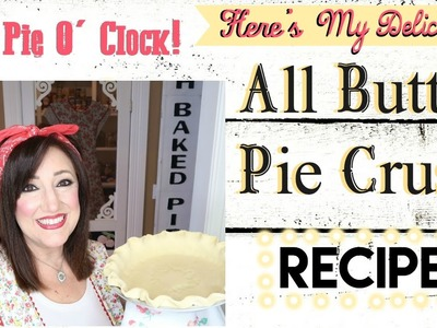 HOW TO MAKE A DELICIOUS ALL BUTTER PIE CRUST IN YOUR KITCHEN AID MIXER!