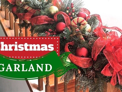 How to Make a Fabulous Christmas Garland | Christmas Decorations | DECORATE WITH ME