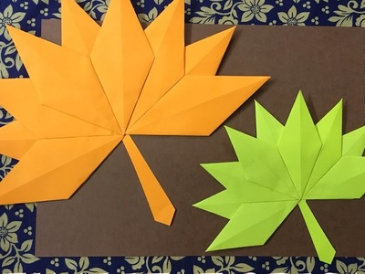 How to Make an Autumn Leaf Origami -- Easy DIY