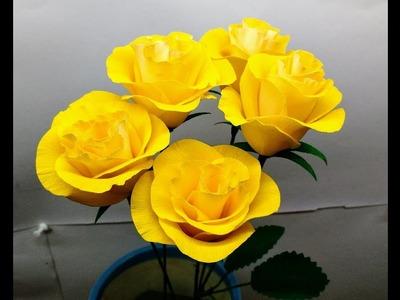 How to make crepe paper flowers Rose Hybrid ( flower #224)