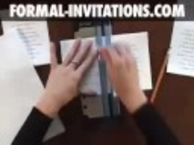 How to make diy wedding invitations with silk flower stems