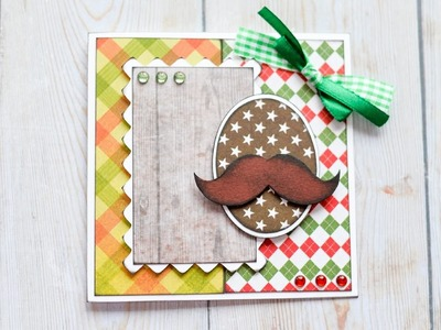 How to Make - Greeting Card Grandfather Father Birthday - Step by Step DIY | Kartka Dziadek Tata