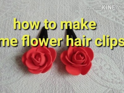 How to make hair clips at home. How to make 5 minutes Hair accessories