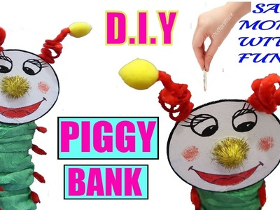 HOW TO MAKE PIGGY BANK | BEST OUT OF WASTE COMPETITION | WASTE MATERIALS CRAFT | PIGGY BANK FOR KIDS