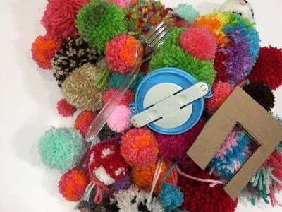 How to make pom poms 4 ways without a pom pom maker!
