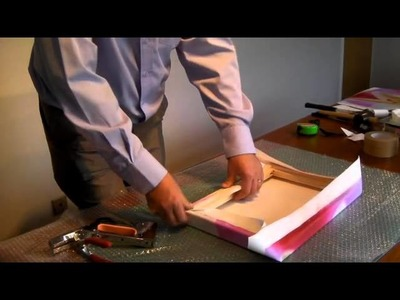How to stretch a print over a canvas frame