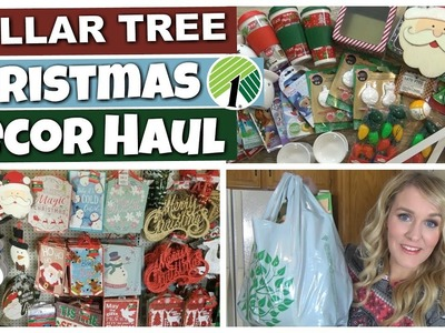 HUGE DOLLAR TREE CHRISTMAS DECOR HAUL! || Kids Craft & Gift Basket Supplies