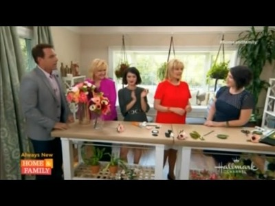 Lia Griffith on Hallmark Home & Family - How To Make Paper Flowers