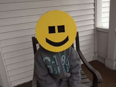 Make a Happy Face Emoji Mask for your Halloween Costume!