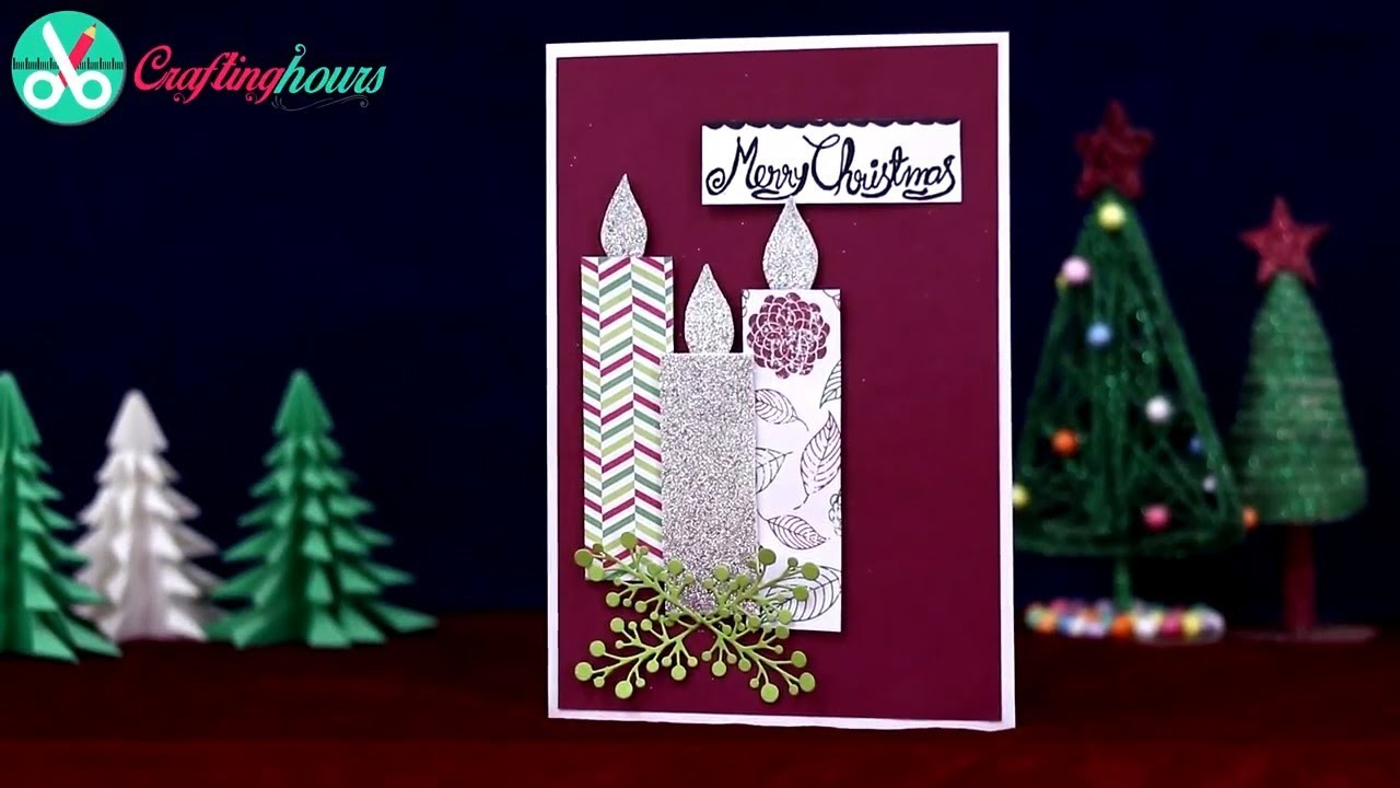 Merry Christmas Candle Decoration Greeting Card Making for Friends