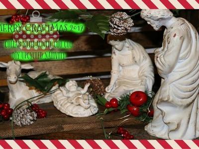 MERRY CRAFTMAS 2017   DIY CHRISTMAS CRAFT   UPCYCLED NATIVITY