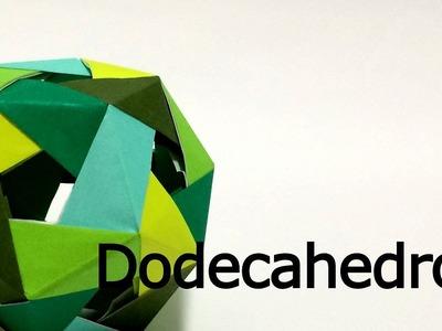 Modular Origami Dodecahedron 2 tutorial