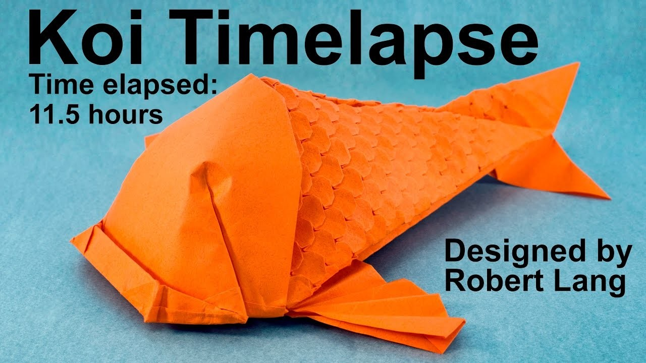 Origami Koi Fish With 400 Scales Timelapse Robert Lang