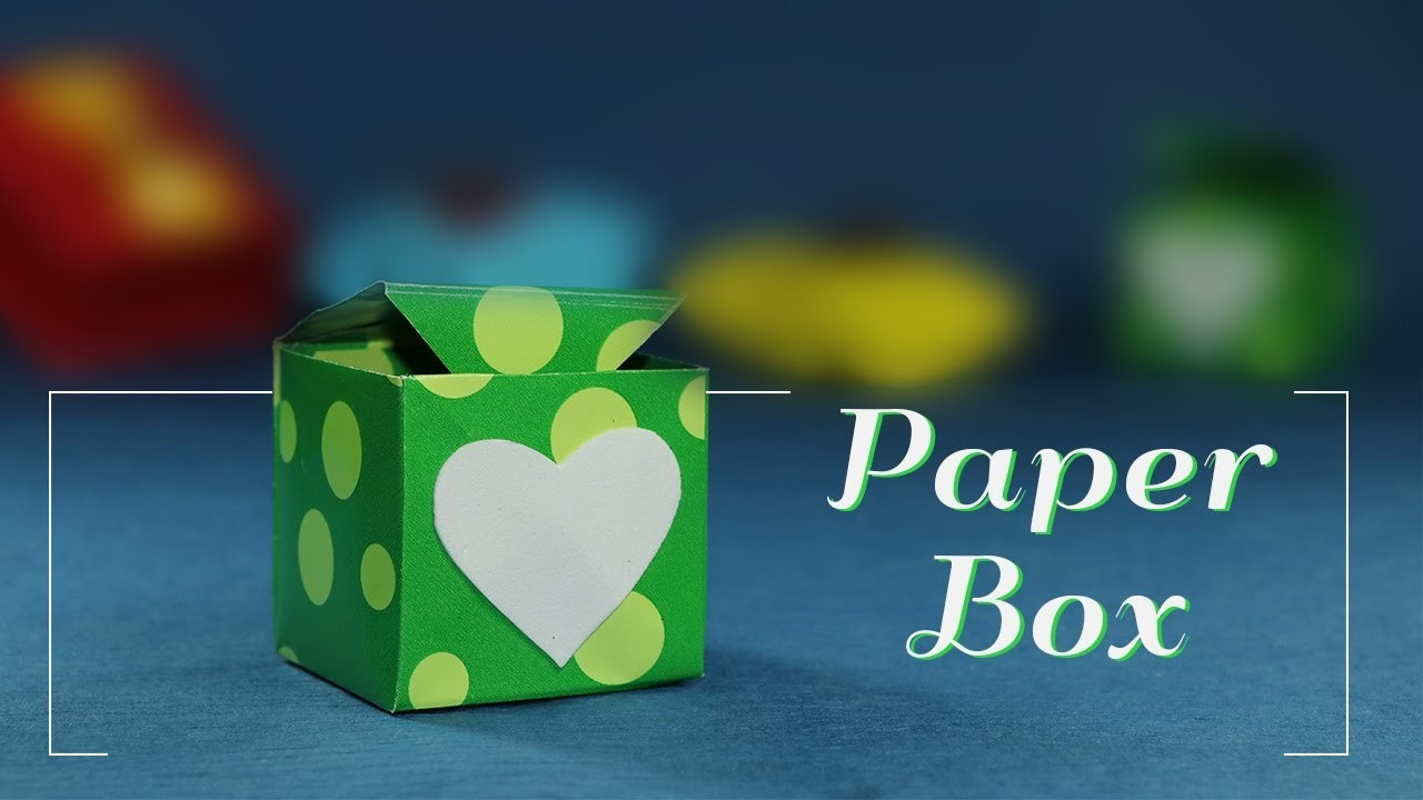 Paper Gift Box DIY- How to Make A Paper Box With Heart Sticker for Valentine Gift