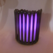 "Pillar candle holder in fused glass 10cm x 11cm 4""x 4.5"" other colours available MADE TO ORDER"